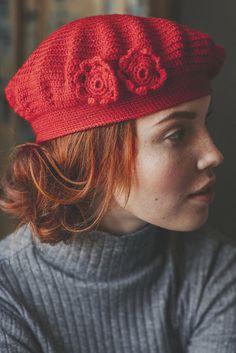 Virkattu baskeri Novita Venla | Novita knits