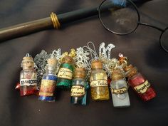Harry Potter potion bottle necklaces