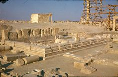 Temple of Allat with Funerary Temple in background, Photo: T. © Polish Mission to Palmyra / Polish Centre of Mediterranean Archaeology Palmyra, Research Institute, Archaeology, Mount Rushmore, Temple, Centre, Polish, Mountains, Nature