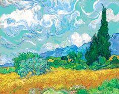 van Gogh: Wheatfield with Cypresses, Starry Night over the Rhone, Irises, Red Vineyard
