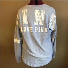 Victoria secret varsity crew Cute. Great condition. Smoke and pet free home. PINK Victoria's Secret Tops Blouses