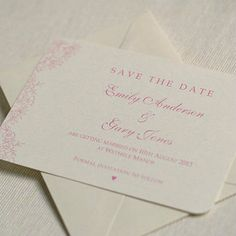 floral lace save the date cards by beautiful day | notonthehighstreet.com