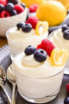 This easy Lemon Mousse is the perfect way to welcome spring! Light, fluffy mouse infused with the sweet flavor of lemon...this sweet treat is delicious all on its own or topped with fresh berries. Whether you're looking for a last minute Easter dessert or the perfect dessert for spring showers, this 5-ingredient Lemon Mousse is sure to be a hit!