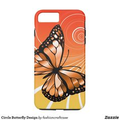 Circle Butterfly Design iPhone 7 Plus Case