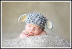 Custom Crochet Baby Lamb Chin Strap Hat by CricketCreations, $24.00