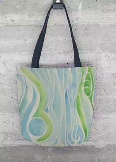 VIDA Foldaway Tote - aqua Junk by VIDA oqyIblBVCg