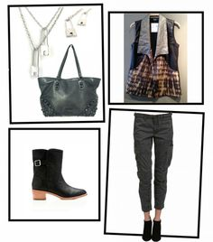 #OOTD: #EdgyChic Outfit of The Day: Edgy Chic Relaxed. It's all in the details (pockets on cargo pants, leather accents on vest, studs on purse and locket pin necklace)... http://blog.styleshack.com/ootd-edgy-chic/ @ewelinapasjewelry @Zieben Mare #styleshack