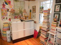 mary englebreit home studio | Mary Engelbreit's home studio. #2 | Sewing Rooms