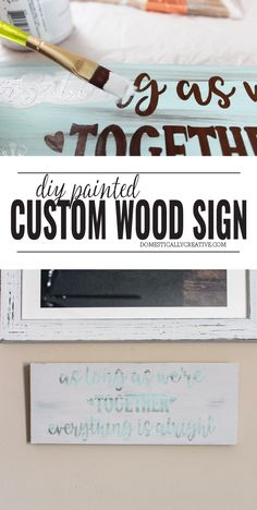 Looking for a new piece of wall art for your space but don't know where to start? I'm sharing an easy tutorial for a DIY painted wood sign that you can make Cheap Diy Headboard, Diy Headboards, Painted Wood Signs, Custom Wood Signs, Diy Painting, Painting On Wood, Industrial Curtain Rod, Diy Locker, Diy Blanket Ladder