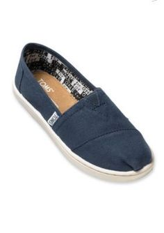 Toms Girls' Classics Navy Slip On - Toddler/Youth Sizes - Navy - 12.5M Toddler