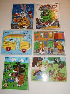 Vintage wooden children's puzzles
