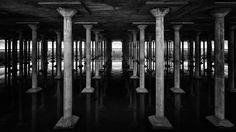 The Houston Cistern http://mabrycampbell.com #bbpcistern #houston #cistern #blackandwhite #mabrycampbell #image #photo #underground #historic #old