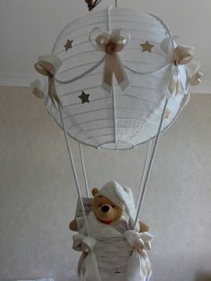 Hot Air Balloon light lamp shade with Winnie the by Babyshades