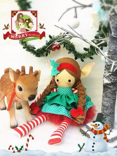 Handmade elf dolls