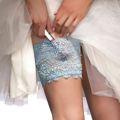 Beaded Blue Wedding GirlyGoGarter - for the bride!