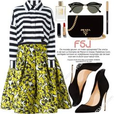 A fashion look from August 2016 by oshint featuring Norma Kamali, Oscar de la Renta, Prada, Ray-Ban, Chanel, Yves Saint Laurent, shoes and fsjshoes