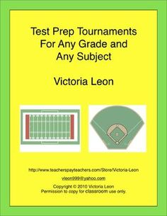 Test Prep Tournaments For Any Grade and Any Subject - Get your students ready for their chapter tests, district mandated tests, and state standards tests...