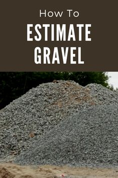 Calculate gravel and other landscape material in cubic yards or tons using a gravel calculator Calculate the amount of gravel or aggregate needed for a project in cubic yards and tons. Estimate landscape material including rock, sand, and topsoil. Landscape Materials, Landscape Plans, Landscape Designs, Landscape Architecture, Desert Landscape, Landscape Rake, Landscape Steps, Landscape Lighting, Driveway Landscaping