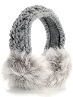 Cable & Faux Fur Ear Muffs at Accessorize