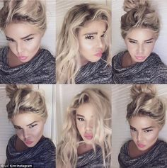 Lil Kim has sparked controversy with her new look. They say she changed her appearance to look like a white woman. But Lil Kim doesn't look white to me in these photos. She looks Asian or Eurasian. Lil Kim White, Rapper, Dark Spots On Skin, Fans, Blonde Wig, Ash Blonde, Quites, Pale Skin, New Instagram