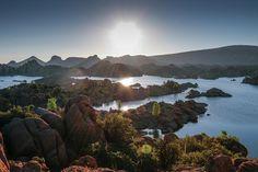 Landscapes Photograph - Sunrise At Watson Lake by Teresa Wilson