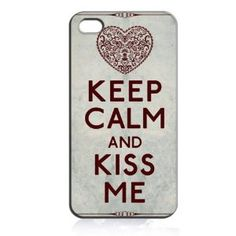Keep Calm and Kiss Me (Victorian Heart) Hard Case Skin for Iphone 4 4s