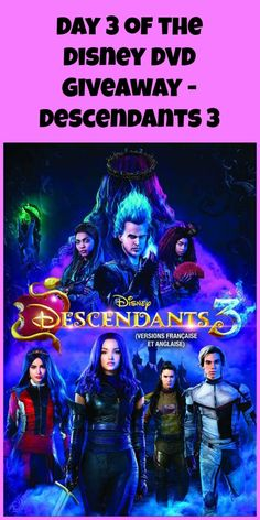 Day 3 of the Disney DVD Giveaway - Descendants 3 - Naturally Cracked