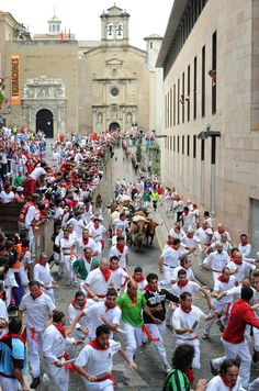 participate in the running of the bulls in Spain.