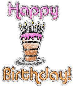 Happy birthday glitter gifs