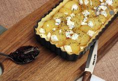 Ge-kocht: Kartoffel-Tarte mit Ziegenkäse und Rosmarin - ein Rezept für eine schnelle Tarte findet Ihr auf meinem Blog www.ge-sagt.de