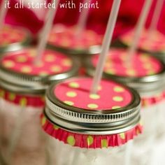 mason jar sippy cups with muffin papers   Mason Jar Projects - It All Started With Paint