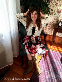 Cactus Print Button Up Shirt, Roper Women's Tan w/ Bronze Glitter Underlay Snip Toe Western Fashion Boots (Cavenders) Floral High Waisted Skirt