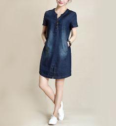 Womens Denim Dress with Pockets