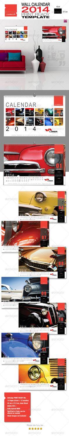 Corporate Wall Calendar 2014 - Landscape  #GraphicRiver