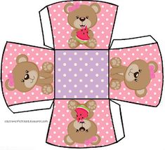 kit festa ursinha rosa grátis para imprimir Imprimibles Baby Shower, Gift Wrapping Bows, Diy And Crafts, Paper Crafts, Baby Shawer, Bear Party, Cute Clipart, Little Boxes, Baby Cards