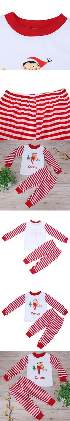 2pcs Christmas Family Matching Clothing Set Suit Letter Print Baby Long Sleeve T-shirt + Long Pants Kids Autumn Winter Clothes
