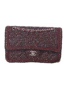 Chanel Classic Medium Tweed Double Flap
