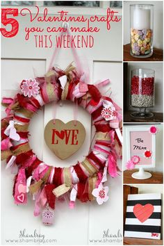 Great ideas for Valentines crafts to make when you are short on time. Simple, but fun!