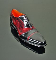 O'Toole - 'OZZY' Cricket Front Oxford Black and Burgundy