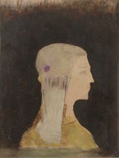 Profile / Odilon Redon /c. 1895 / Oil on paper mounted on canvas