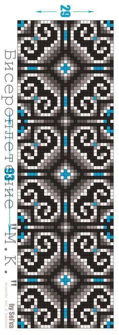nice graph for crochet Bead Loom Patterns, Peyote Patterns, Weaving Patterns, Bracelet Patterns, Cross Stitch Patterns, Cross Stitching, Cross Stitch Embroidery, Mochila Crochet, C2c Crochet