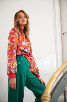Floral Bomber Jacket, Jacket Style, Clean Lines, Silk Top, Cotton Dresses, Silk Dress, Kimono Top, Silhouette, Coats