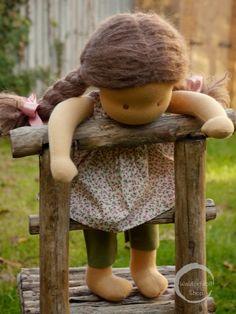 """16"""" Waldorf Doll by Waldorfdollshop Child Doll, Girl Dolls, Baby Dolls, Pretty Dolls, Cute Dolls, Little Pet Shop Toys, Waldorf Toys, Doll Shop, Doll Hair"""