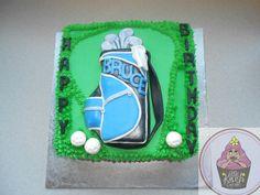 Golf cake @ https://www.facebook.com/pages/Little-Krush-Cupcakes-NZ/485728288124195?
