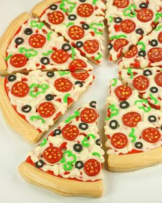 Iced Cookies Shortbread Cake Biscotti Pizza Party Cookie Decorating Ideas