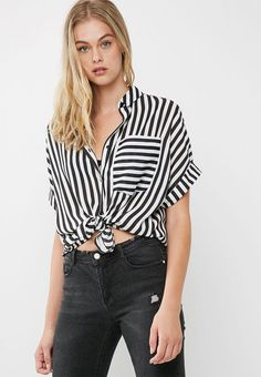 308e22bad8f Drop shoulder shirt - black and white stripe dailyfriday Shirts