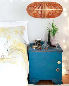 image Night Table, Dresser As Nightstand, Bedside, Bedroom Bed, Bedrooms, New Room, Chalk Paint, Wood Crafts, Household