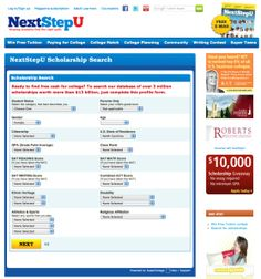 How to pay for college — Scholarship Search. 12 billion dollars and 3 million listings!