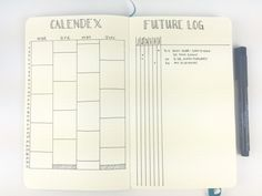 Bullet Journal Future Log Calendex-Alastair hybrid by @bohoberry