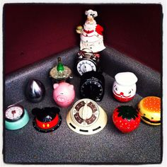 Some of my timers Kitchen Timers, Old And New, Cooking, Disney, Desserts, Collection, Food, Kitchen, Tailgate Desserts
